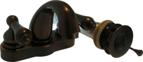 "Oil Rubbed Bronze 4"" Centerset Bathroom Faucet"