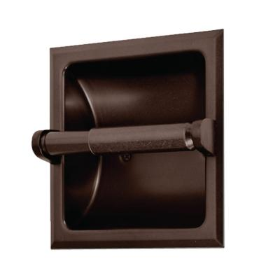 Oil rubbed Bronze recessed toilet paper holder