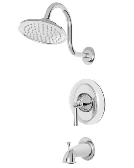 Polished Chrome Rain Shower Head/Bath Tub Set
