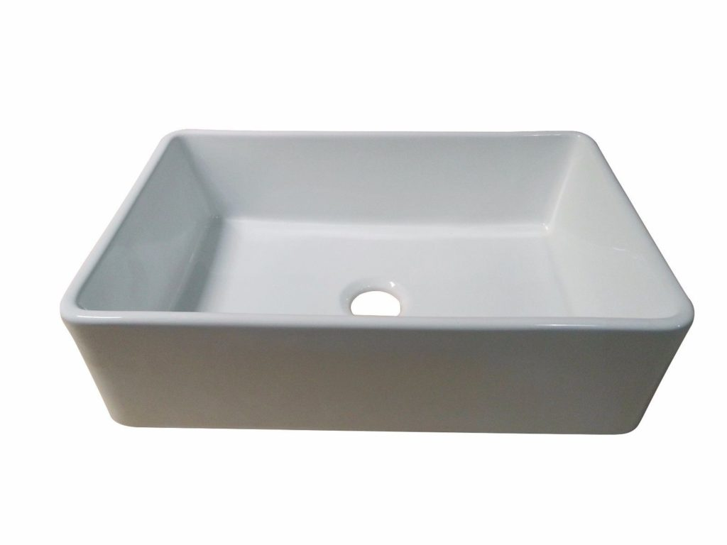 30 Quot White Fireclay Farmhouse Single Bowl Kitchen Sink Hardware Supply Source
